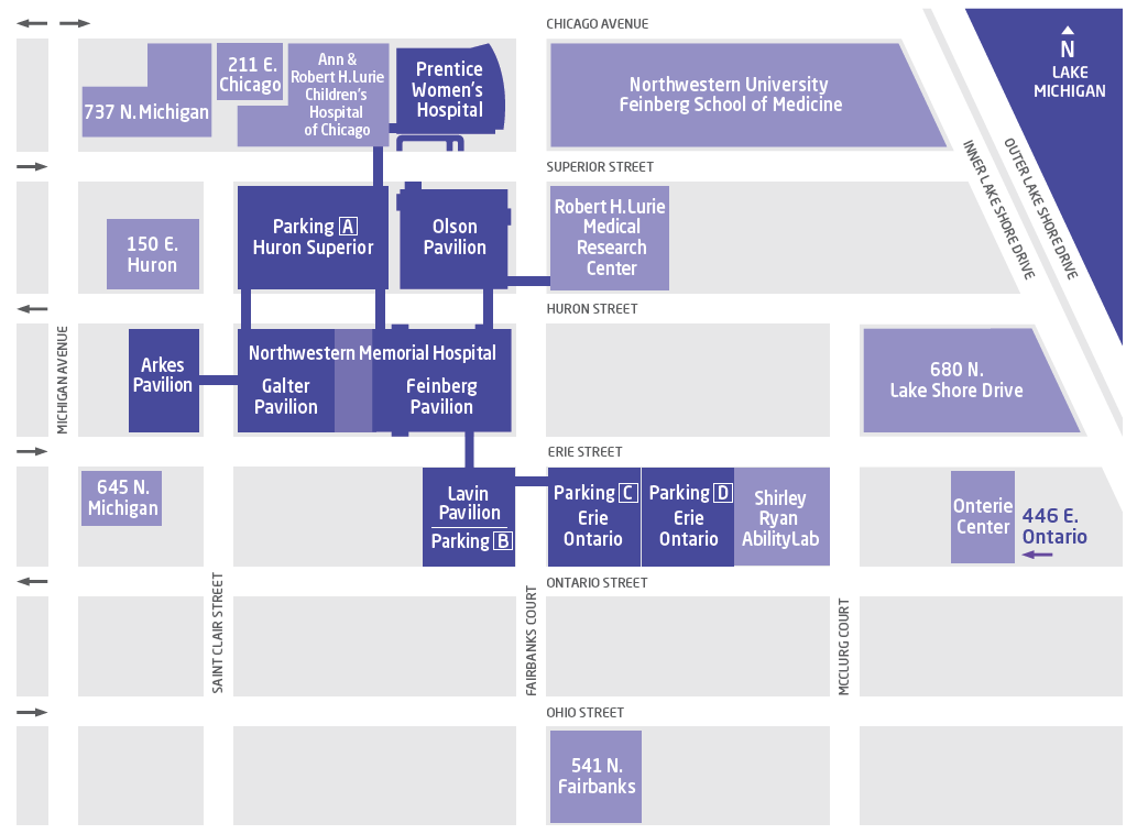 parking map for Cancer Center